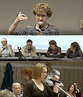 Angèle Bilodeau, répondants et public
