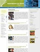 Page Web Chaire de recherche du Canada sur les innovations en santé